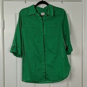 NWT Chico's Lightweight Button Down Camp Shirt